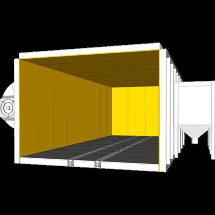 Blast cabinet liner plate in Hardox® steel