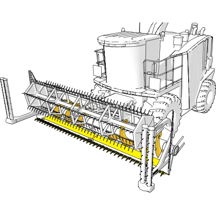 Combine harvester parts in Hardox® steel