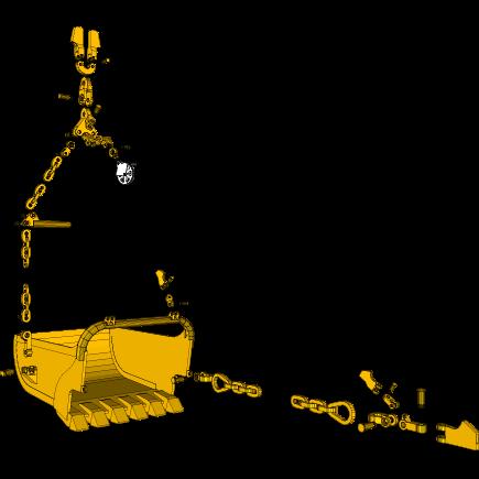 Godets de dragline