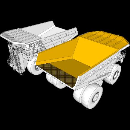 Descarregadores e caminhões basculantes