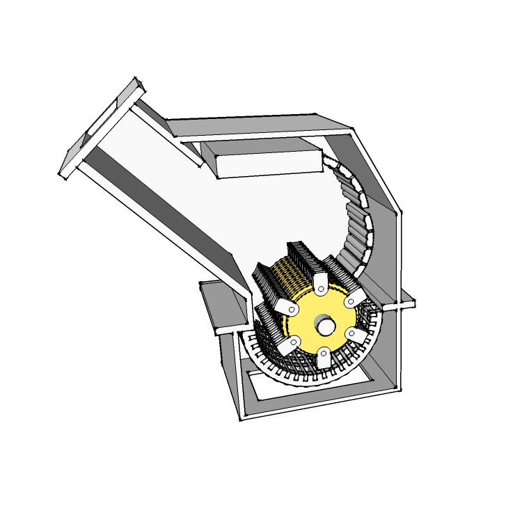 Hammer mill parts in Hardox® steel