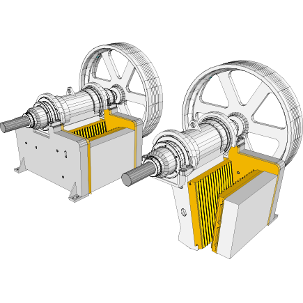 Jaw crusher parts in Hardox® steel