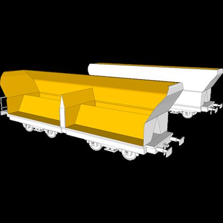 有轨底卸式货车