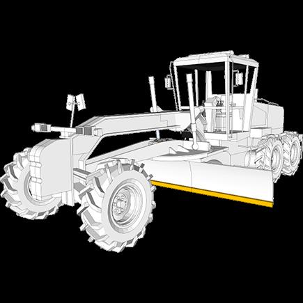 Tractor-scraper blades in Hardox® steel
