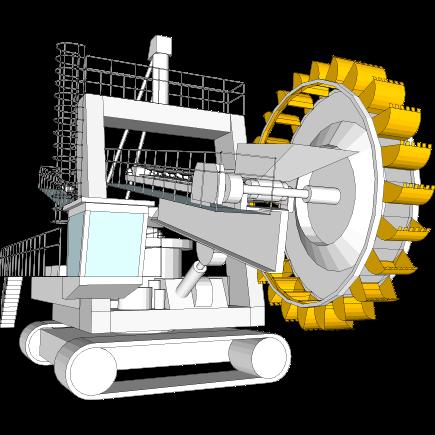 Excavatrices sur roues