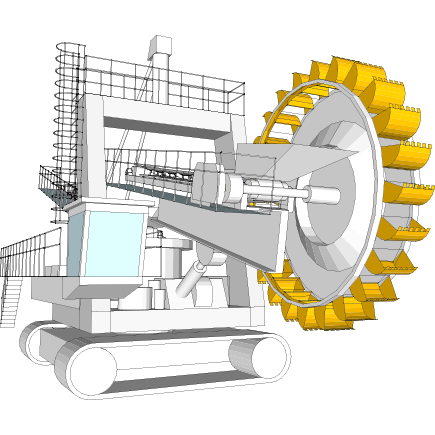 Bucket wheels for bucket wheel excavators in Hardox® steel
