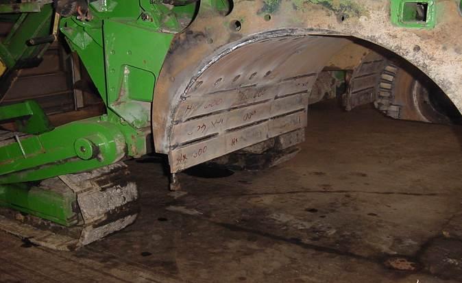 Revestimiento para fresadora de asfalto para mayor vida útil