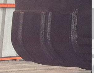 Angolo posteriore piegato nella benna con ampia durata utile