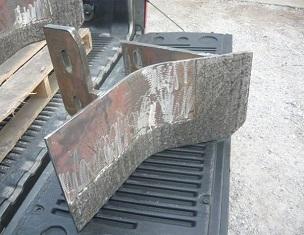 Linerplåt med lång livslängd för cementklinkerkvarnar