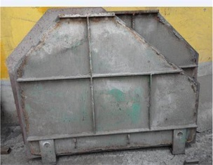 Cement clinker raw mill baffle plate with long service life