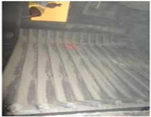 Deflector plates with long service life