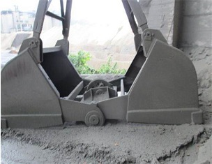 Cement mill grab bucket with long service life