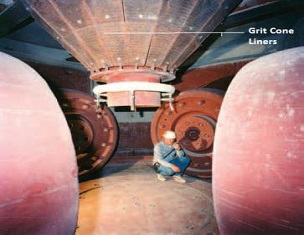 Cement clinker raw mill grit cone with long service life