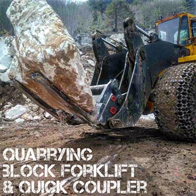 用于大理石块的铲叉,重量更轻