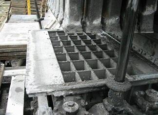 Stampi in cemento per lastre di pavimentazione con una lunga durata utile