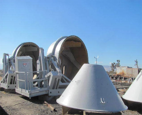 Concrete mixer paddles with extra long service life