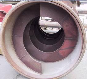 Spiraler med lång livslängd till matarskruvar i cementfabrik