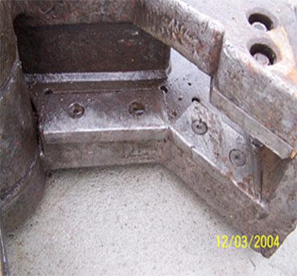 Demolition shear blade made more durable