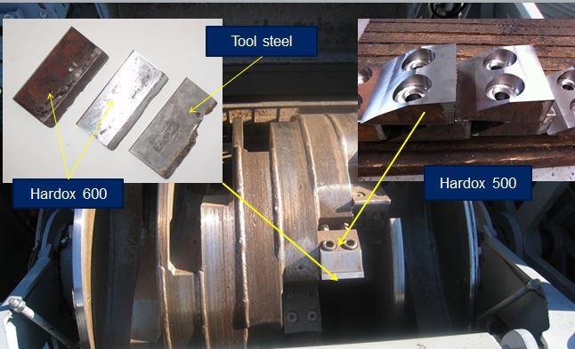 Faca e suporte de triturador para a reciclagem de madeira com maior vida útil