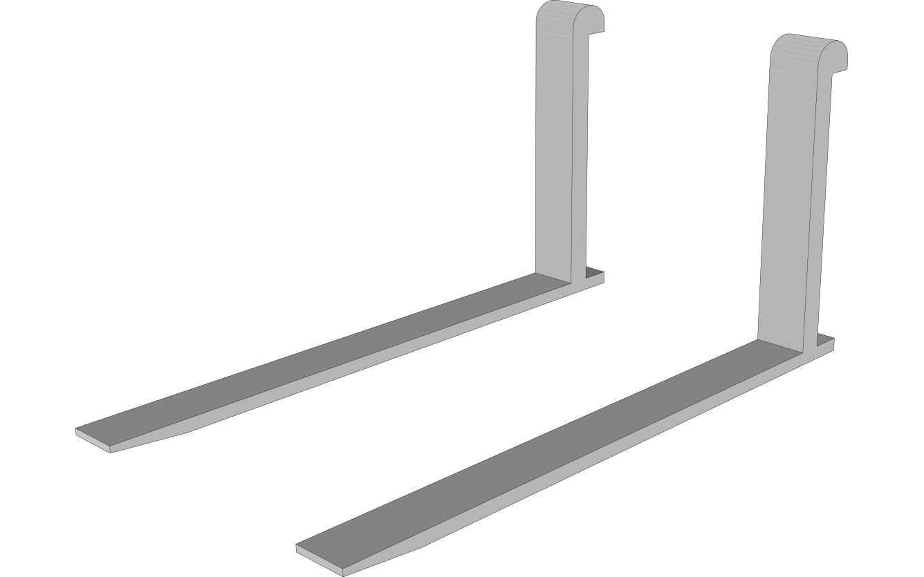 Forklift forks in Hardox® and Strenx® steels