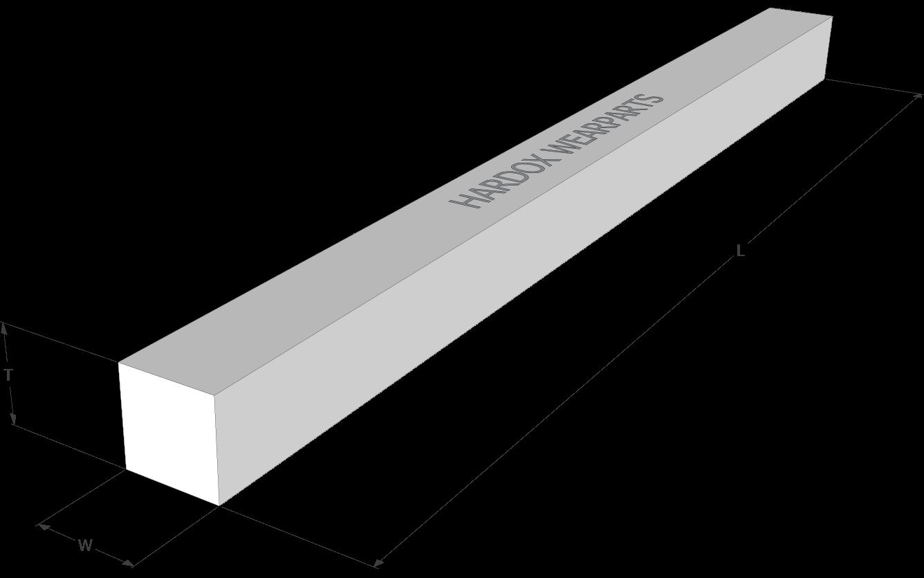 Quadratischer Verschleißstab