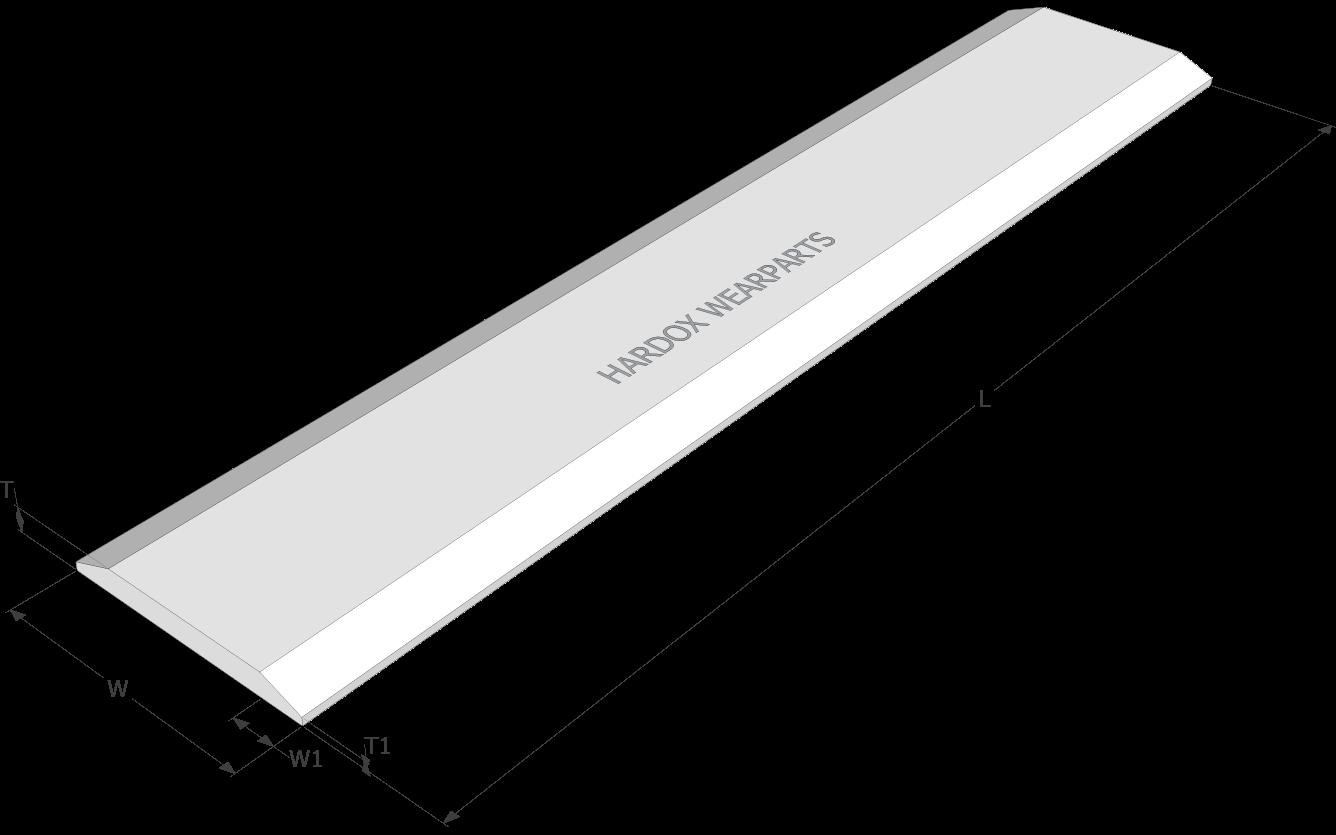 Main weld-on blades
