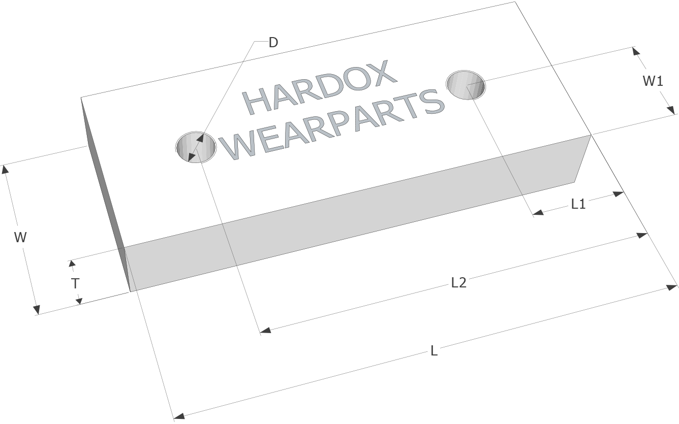 Shear blades for shredders in Hardox® steel