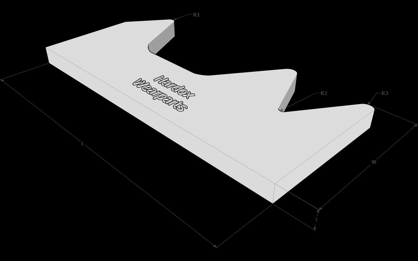 Pulverizer jaws in Hardox® steel