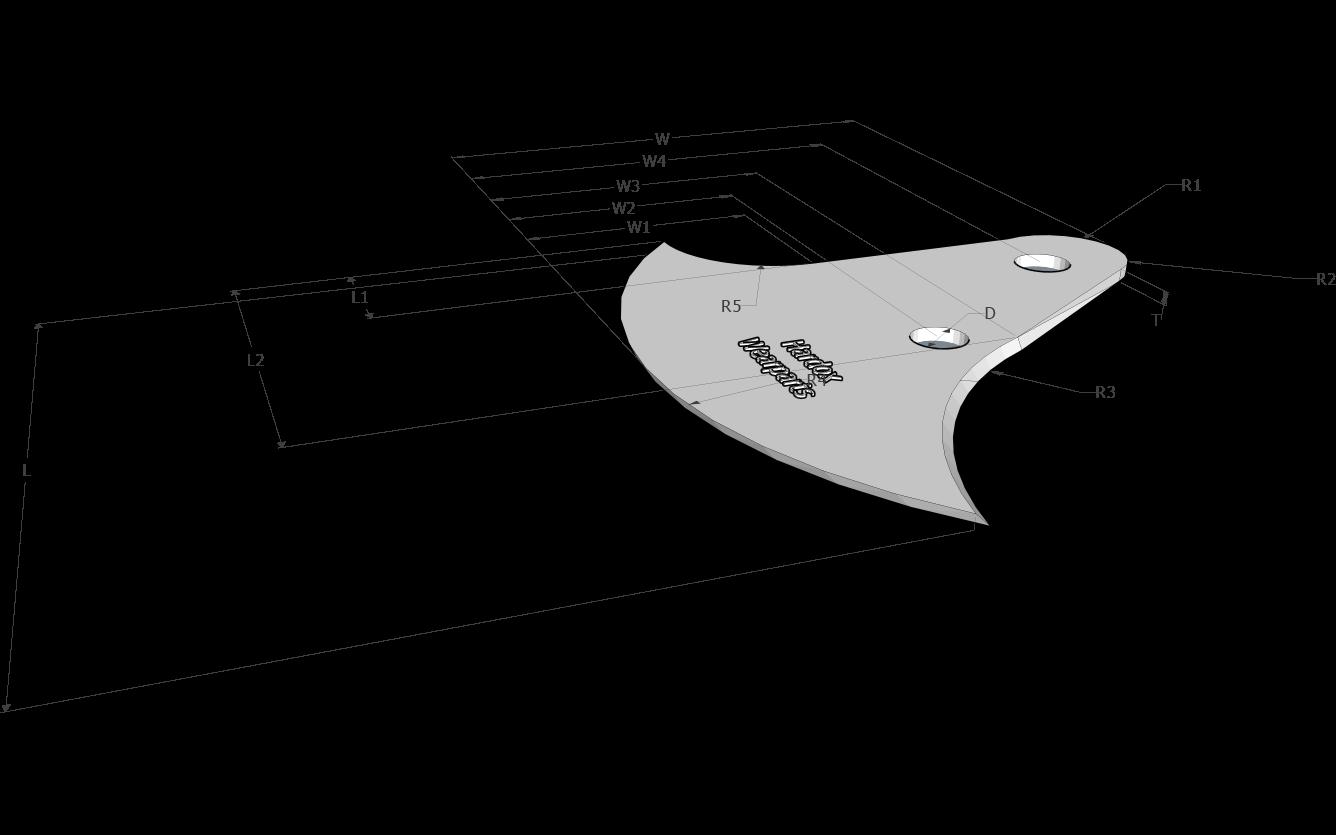 Barbatana de tubarão parafusável