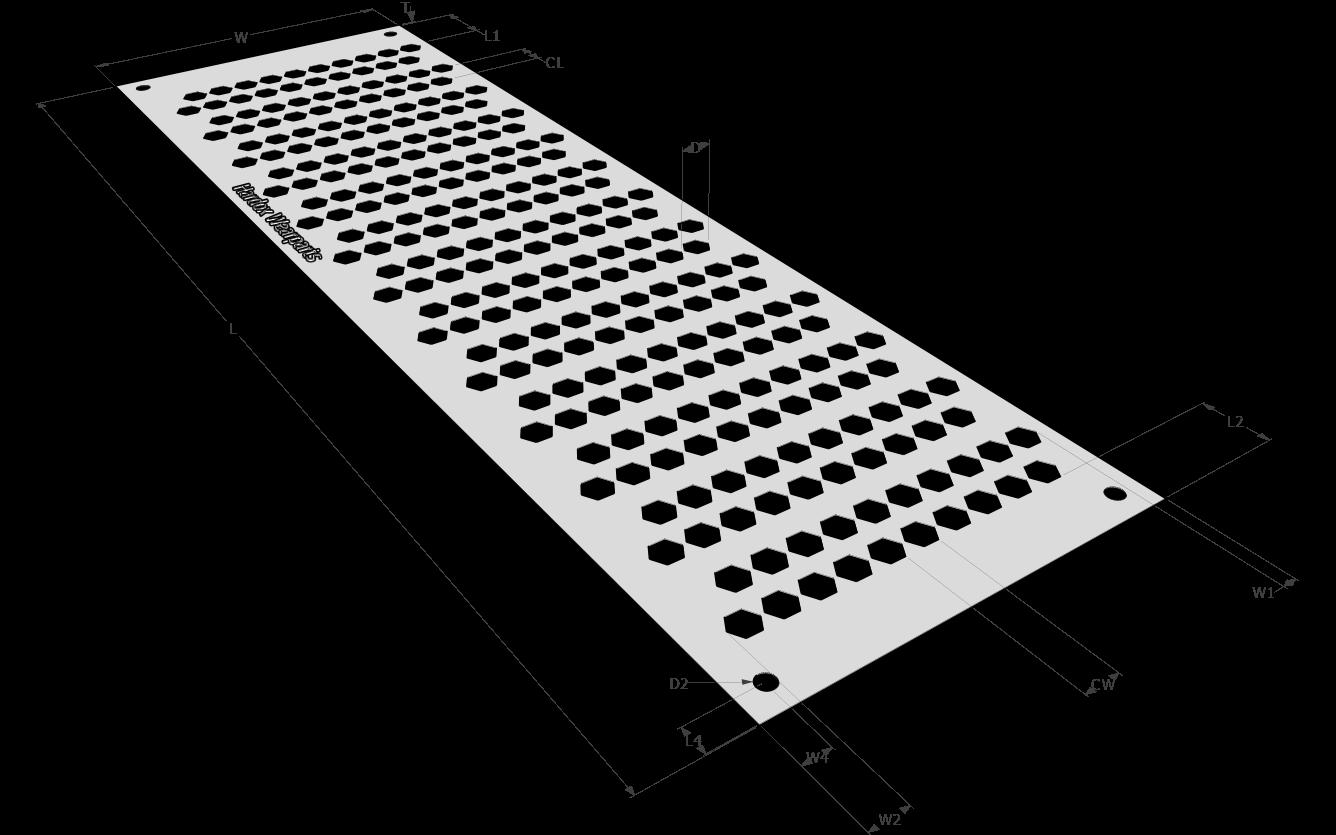 Просеивающая поверхность с шестигранной ячейкой