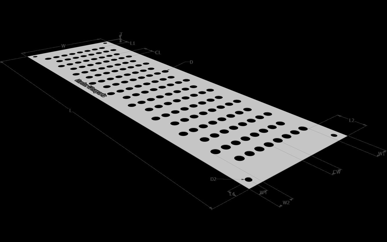 Просеивающая поверхность с круглой ячейкой в шахматном порядке