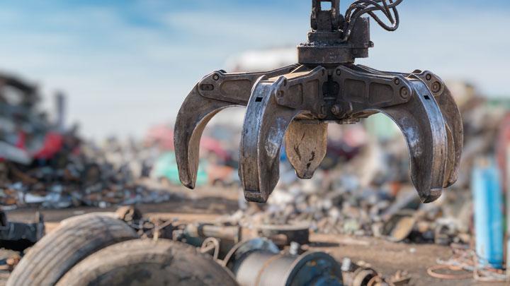 Drapák recyklačního stroje z oceli Hardox® HiAce