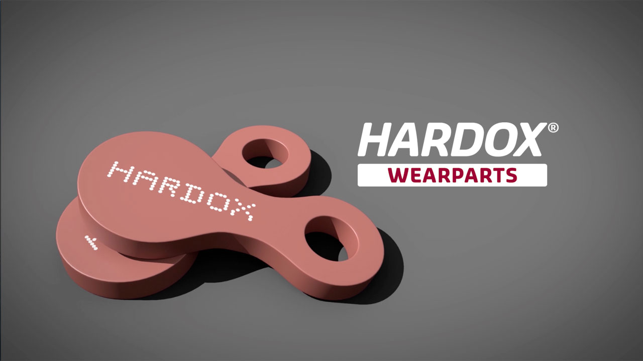 Parts made in Hardox® wear steel, which you can get from a local Hardox® Wearparts center.