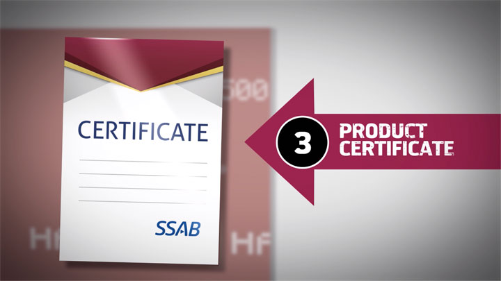 A product certificate for Hardox® wear plate, one sign of the steel's authenticity.