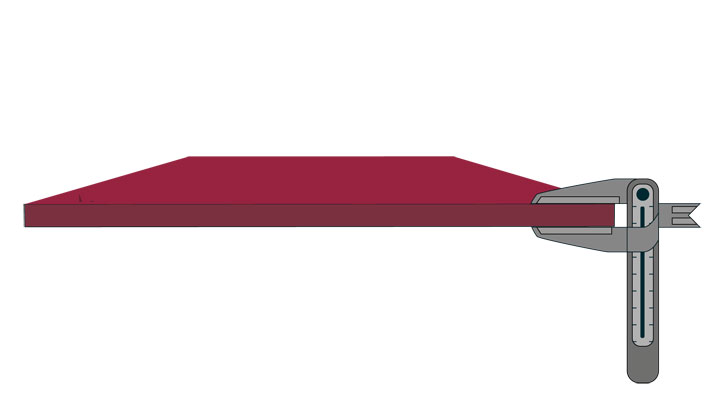 A piece of Hardox® wear plate with guaranteed thickness tolerances that make weight calculations more accurate and the safety margins more exact.