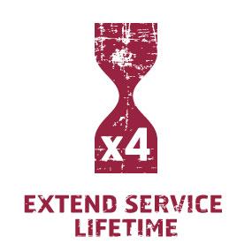 Hardox extend service liftime