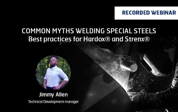 Hardox and Strenx welding banner