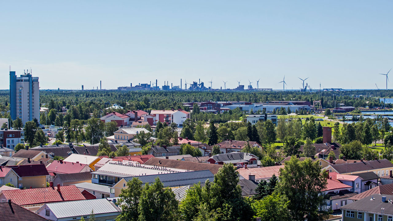 view over Raahe production site