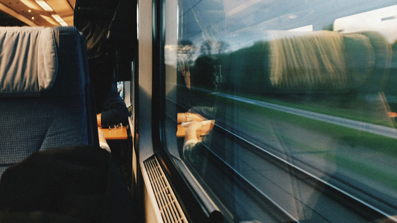 window view from a train