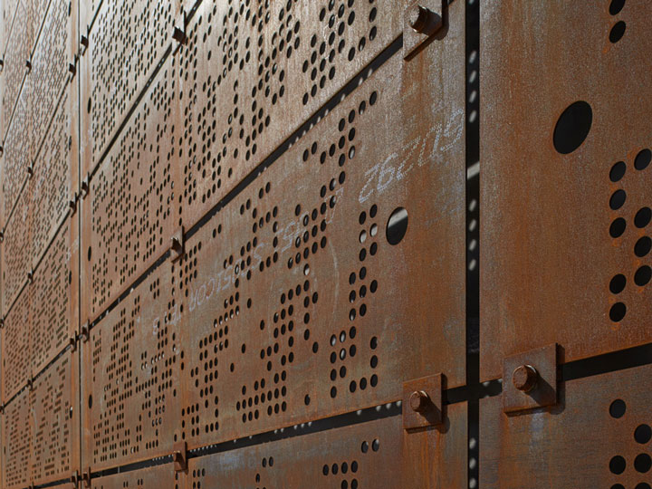 Panneaux d'acier COR-TEN® perforé