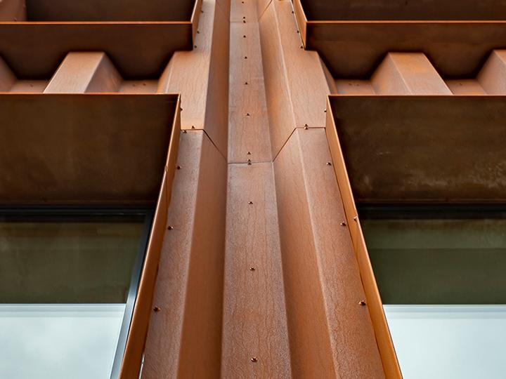 Profiling COR-TEN® steel sheet