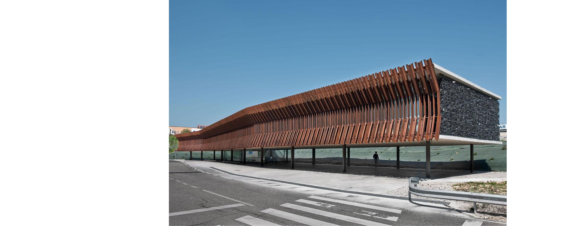 COR-TEN® – Hauptgebäude von Audenasa