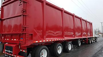 SSAB EcoUpgraded Domestic waste transfer trailer