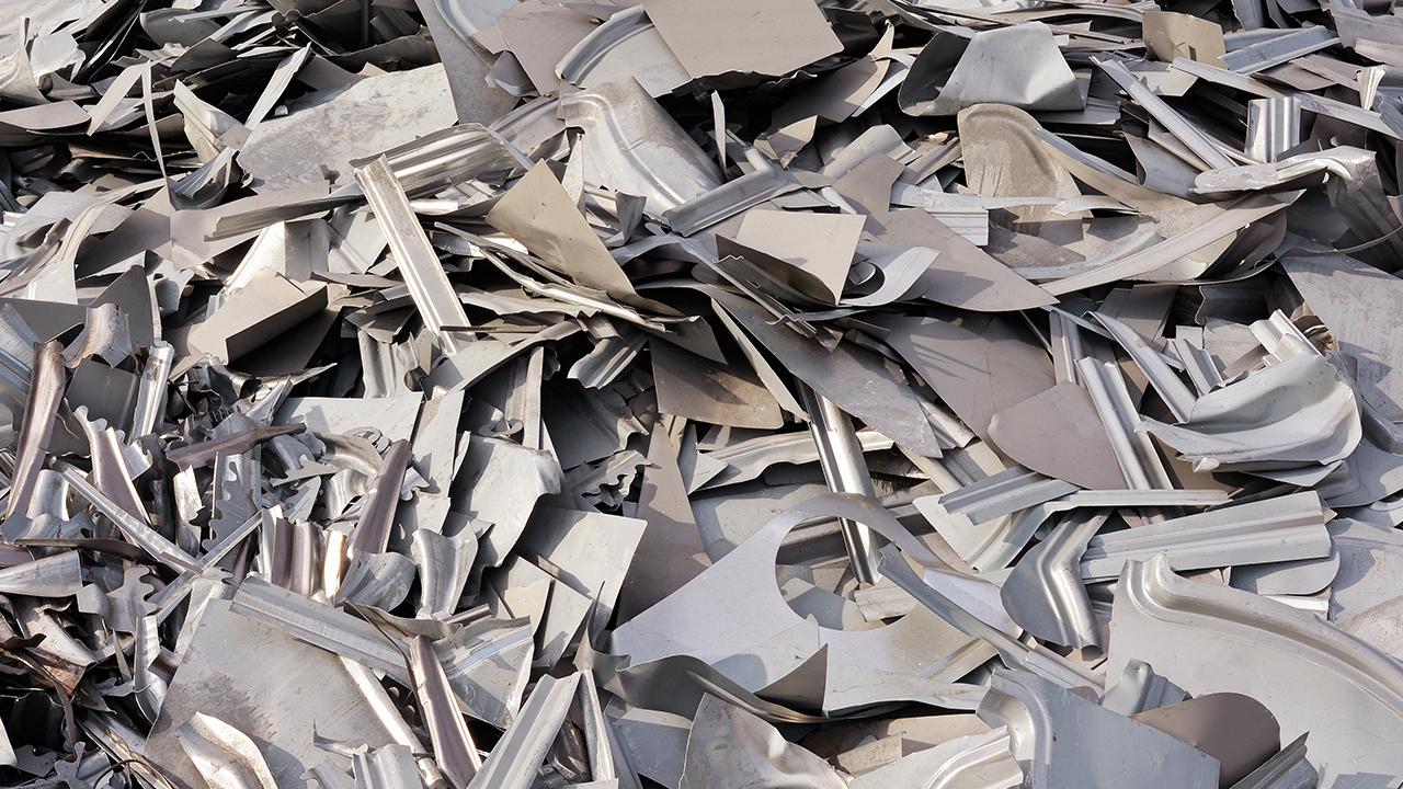 chapas de acero recicladas