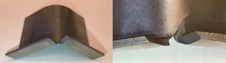 Utilize um teste prático para validar a tensão de borda em bordas cortadas do AHSS