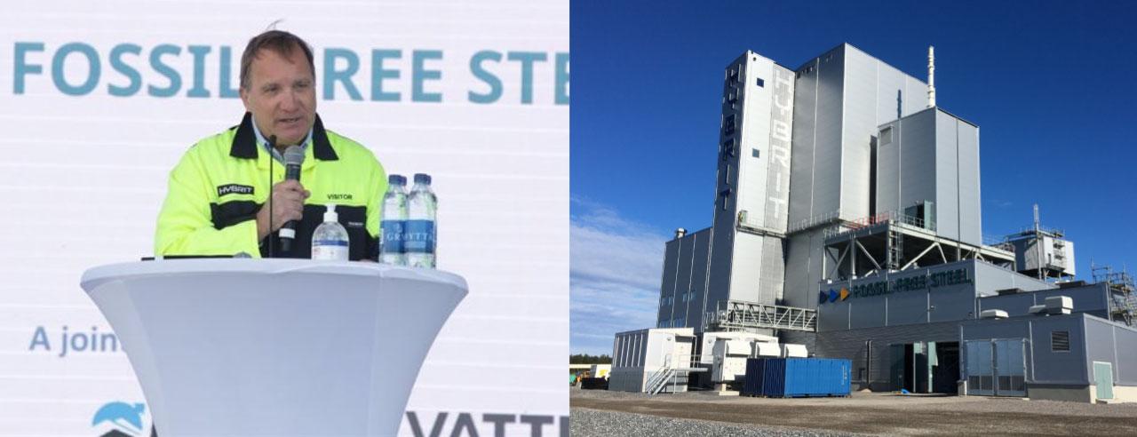 Le premier ministre Stefan Löven et l'usine Hybrit