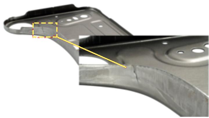 Autre exemple de problèmes de ductilité des rives des aciers AHSS