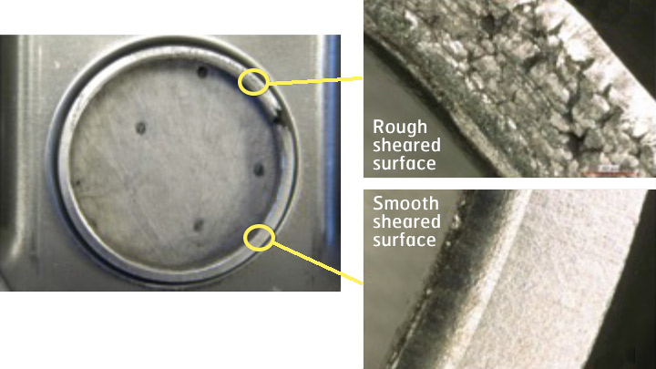 Examples of AHSS edge ductility problems