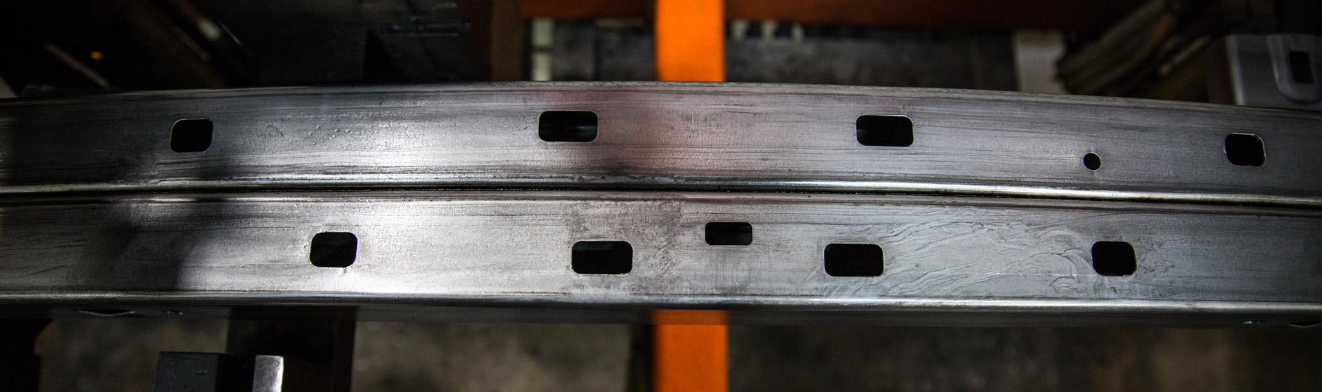 Lâminas de pára-choques feitas com aços Docol