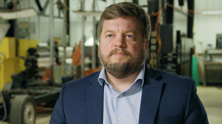 Brian Oxley, especialista em desenvolvimento de produtos avançados da Shape Corp.